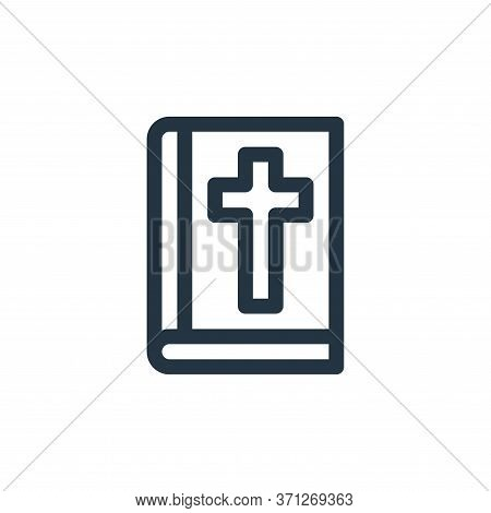 Bible Vector Icon. Bible Editable Stroke. Bible Linear Symbol For Use On Web And Mobile Apps, Logo,