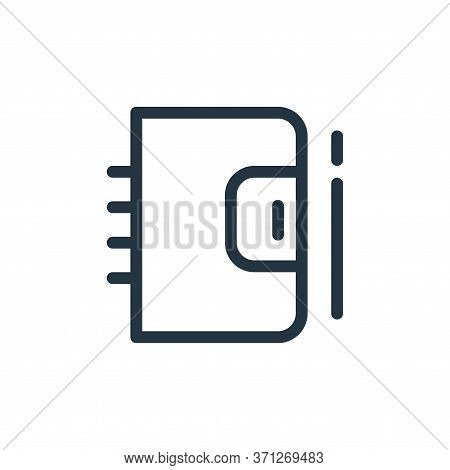 Notebook Vector Icon. Notebook Editable Stroke. Notebook Linear Symbol For Use On Web And Mobile App