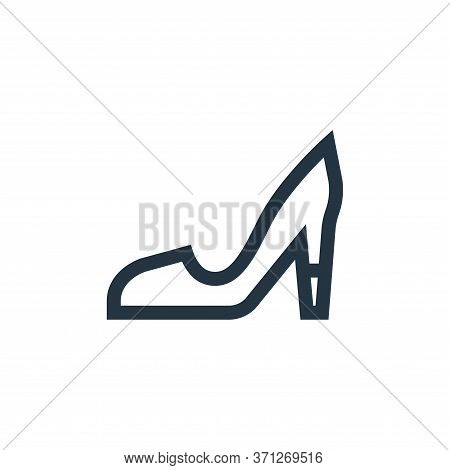 High Heels Vector Icon. High Heels Editable Stroke. High Heels Linear Symbol For Use On Web And Mobi