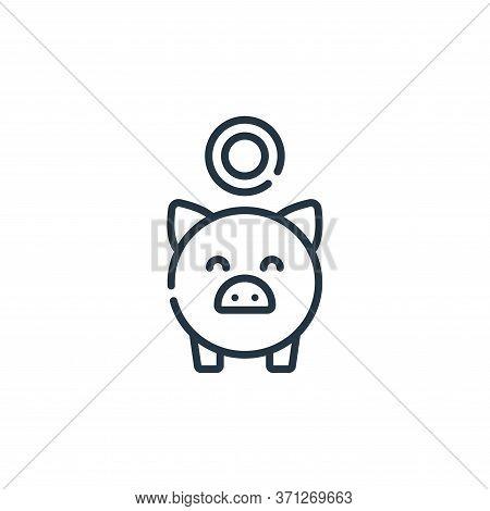 Piggy Bank Vector Icon. Piggy Bank Editable Stroke. Piggy Bank Linear Symbol For Use On Web And Mobi