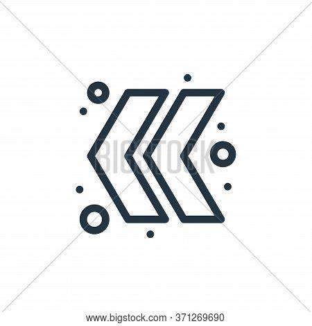 Double Chevron Vector Icon. Double Chevron Editable Stroke. Double Chevron Linear Symbol For Use On