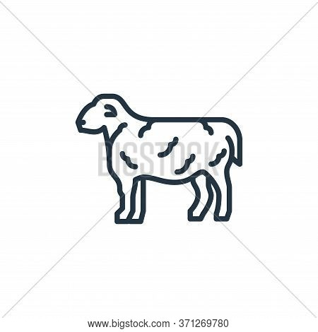 Sheep Vector Icon. Sheep Editable Stroke. Sheep Linear Symbol For Use On Web And Mobile Apps, Logo,