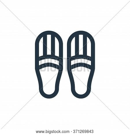 Slippers Vector Icon. Slippers Editable Stroke. Slippers Linear Symbol For Use On Web And Mobile App