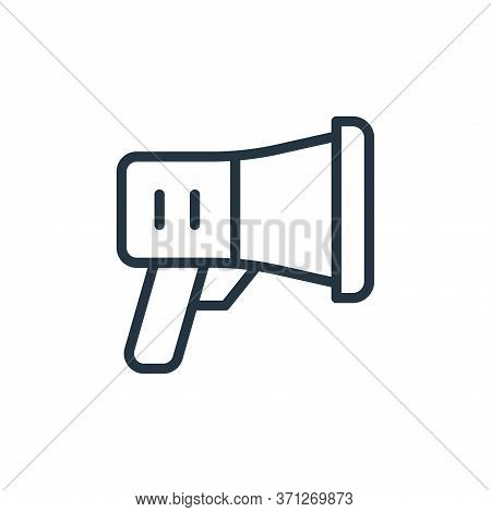 Megaphone Vector Icon. Megaphone Editable Stroke. Megaphone Linear Symbol For Use On Web And Mobile