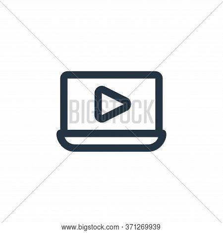Video Tutorial Vector Icon. Video Tutorial Editable Stroke. Video Tutorial Linear Symbol For Use On