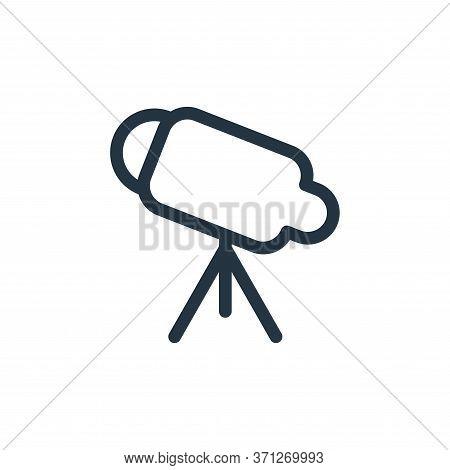 Telescope Vector Icon. Telescope Editable Stroke. Telescope Linear Symbol For Use On Web And Mobile