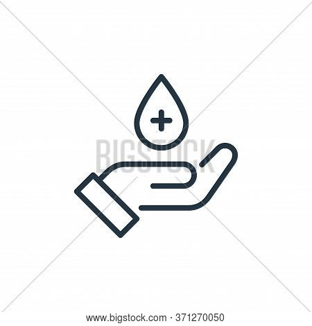 Blood Donation Vector Icon. Blood Donation Editable Stroke. Blood Donation Linear Symbol For Use On