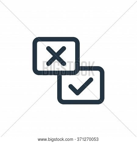 Checkmark Vector Icon. Checkmark Editable Stroke. Checkmark Linear Symbol For Use On Web And Mobile