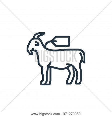 Goat Vector Icon. Goat Editable Stroke. Goat Linear Symbol For Use On Web And Mobile Apps, Logo, Pri
