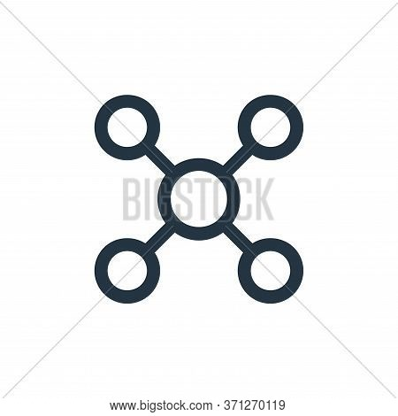 Networking Vector Icon. Networking Editable Stroke. Networking Linear Symbol For Use On Web And Mobi