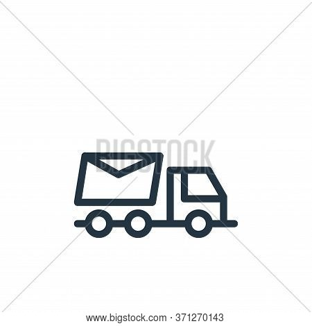 Truck Vector Icon. Truck Editable Stroke. Truck Linear Symbol For Use On Web And Mobile Apps, Logo,