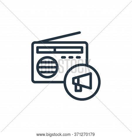 Radio Vector Icon. Radio Editable Stroke. Radio Linear Symbol For Use On Web And Mobile Apps, Logo,