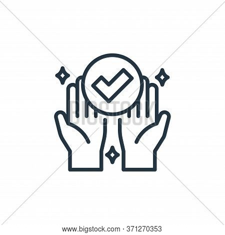 Hand Vector Icon. Hand Editable Stroke. Hand Linear Symbol For Use On Web And Mobile Apps, Logo, Pri