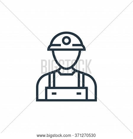 Miner Vector Icon. Miner Editable Stroke. Miner Linear Symbol For Use On Web And Mobile Apps, Logo,