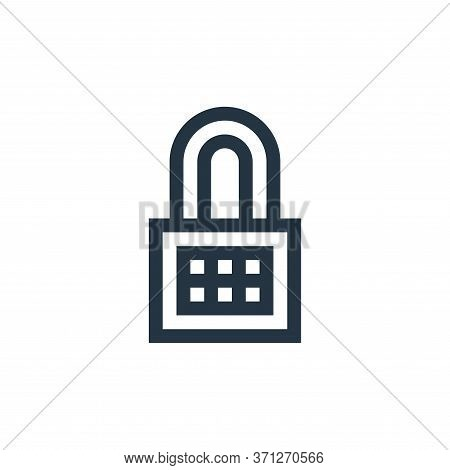 Lock Vector Icon. Lock Editable Stroke. Lock Linear Symbol For Use On Web And Mobile Apps, Logo, Pri