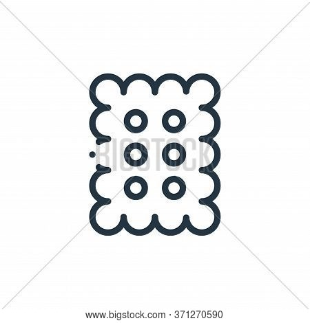 Biscuit Vector Icon. Biscuit Editable Stroke. Biscuit Linear Symbol For Use On Web And Mobile Apps,
