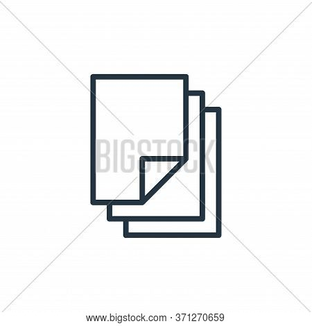 Paper Vector Icon. Paper Editable Stroke. Paper Linear Symbol For Use On Web And Mobile Apps, Logo,
