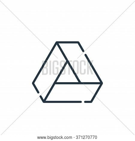 Google Drive Vector Icon. Google Drive Editable Stroke. Google Drive Linear Symbol For Use On Web An