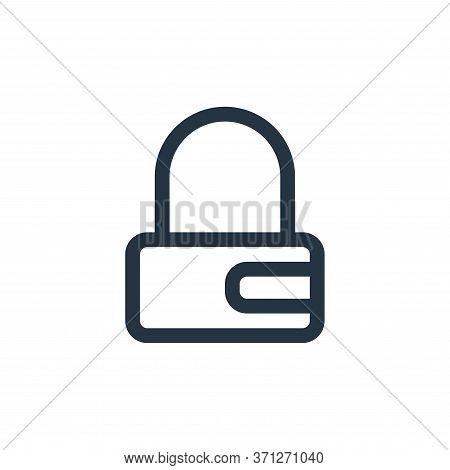 Padlock Vector Icon. Padlock Editable Stroke. Padlock Linear Symbol For Use On Web And Mobile Apps,