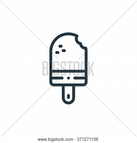 Popsicle Vector Icon. Popsicle Editable Stroke. Popsicle Linear Symbol For Use On Web And Mobile App