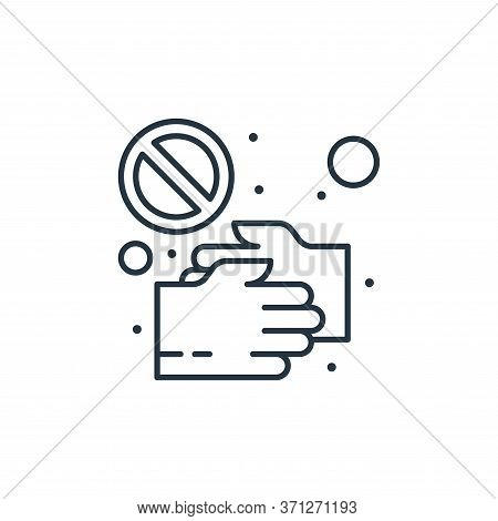 No Handshake Vector Icon. No Handshake Editable Stroke. No Handshake Linear Symbol For Use On Web An