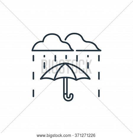 Umbrella Vector Icon. Umbrella Editable Stroke. Umbrella Linear Symbol For Use On Web And Mobile App