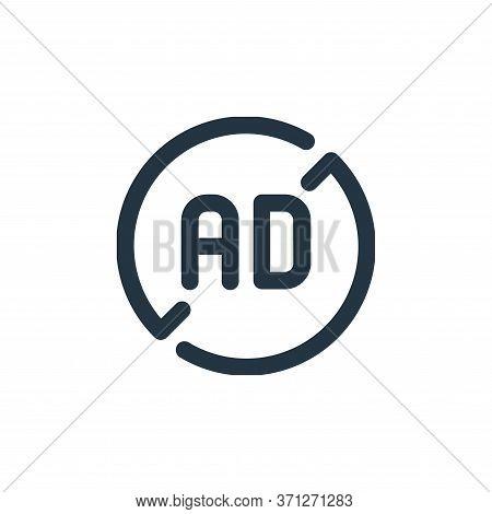 Ad Blocker Vector Icon. Ad Blocker Editable Stroke. Ad Blocker Linear Symbol For Use On Web And Mobi
