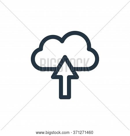 Upload Vector Icon. Upload Editable Stroke. Upload Linear Symbol For Use On Web And Mobile Apps, Log
