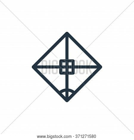 Rhombus Vector Icon. Rhombus Editable Stroke. Rhombus Linear Symbol For Use On Web And Mobile Apps,