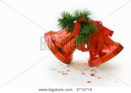 Christmas Red Bells Decoration