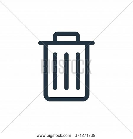 Trash Vector Icon. Trash Editable Stroke. Trash Linear Symbol For Use On Web And Mobile Apps, Logo,