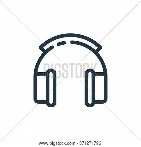 Headphone Vector Icon. Headphone Editable Stroke. Headphone Linear Symbol For Use On Web And Mobile