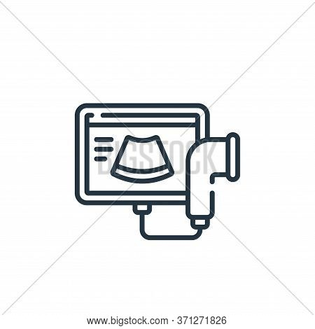 Ultrasound Vector Icon. Ultrasound Editable Stroke. Ultrasound Linear Symbol For Use On Web And Mobi
