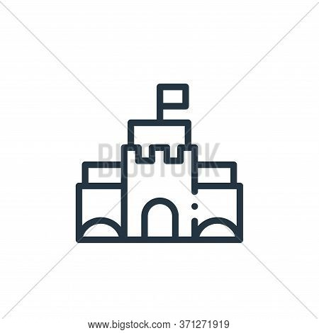 Sand Castle Vector Icon. Sand Castle Editable Stroke. Sand Castle Linear Symbol For Use On Web And M
