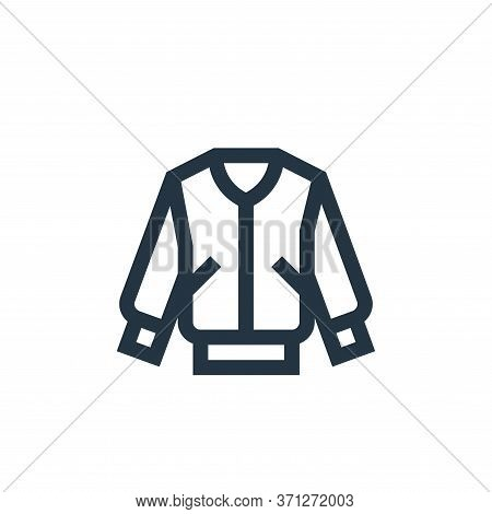 Jacket Vector Icon. Jacket Editable Stroke. Jacket Linear Symbol For Use On Web And Mobile Apps, Log