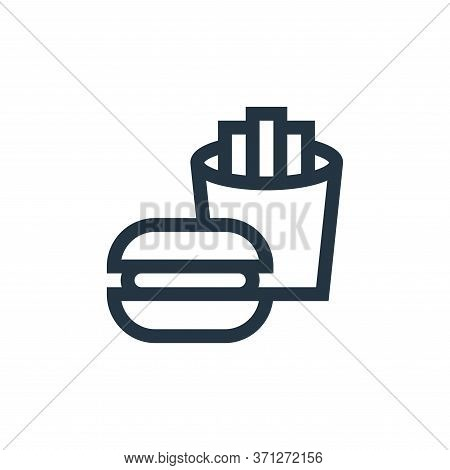 Fast Food Vector Icon. Fast Food Editable Stroke. Fast Food Linear Symbol For Use On Web And Mobile