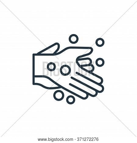 Hand Washing Vector Icon. Hand Washing Editable Stroke. Hand Washing Linear Symbol For Use On Web An