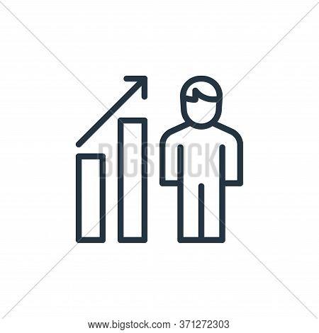 Job Promotion Vector Icon. Job Promotion Editable Stroke. Job Promotion Linear Symbol For Use On Web