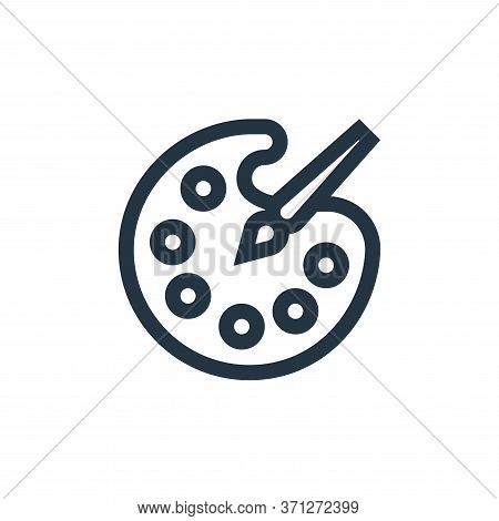 Paint Palette Vector Icon. Paint Palette Editable Stroke. Paint Palette Linear Symbol For Use On Web