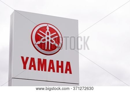 Bordeaux , Aquitaine / France - 10 02 2019 : Sign Store Yamaha Motorcycle Shop Motorbikes