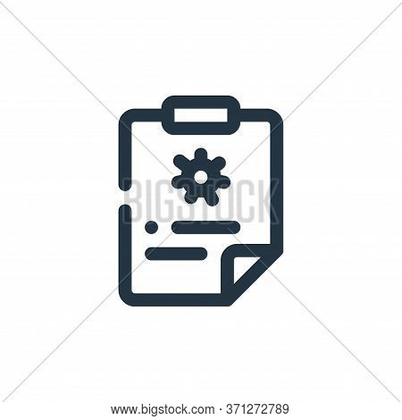 Medical Record Vector Icon. Medical Record Editable Stroke. Medical Record Linear Symbol For Use On
