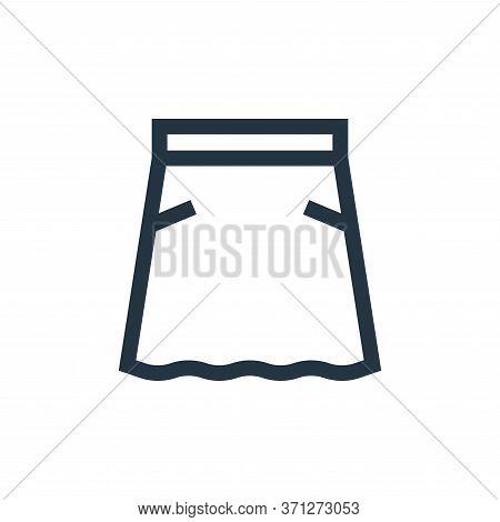Skirt Vector Icon. Skirt Editable Stroke. Skirt Linear Symbol For Use On Web And Mobile Apps, Logo,
