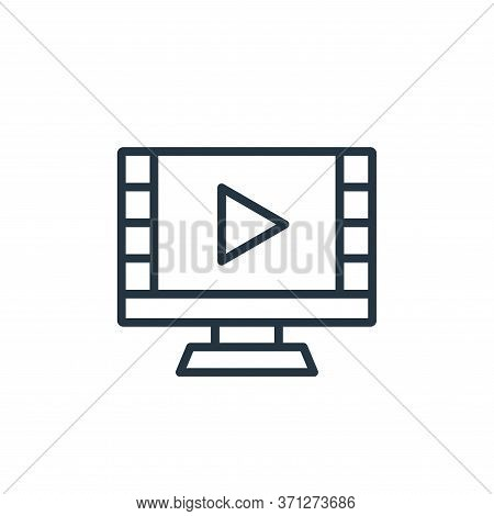 Watch Movie Vector Icon. Watch Movie Editable Stroke. Watch Movie Linear Symbol For Use On Web And M