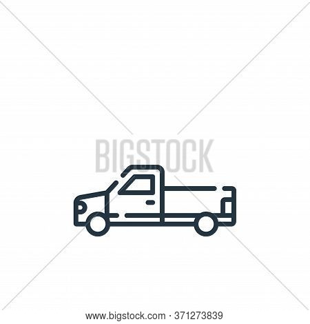 Pick Up Truck Vector Icon. Pick Up Truck Editable Stroke. Pick Up Truck Linear Symbol For Use On Web