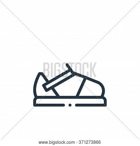 Sandal Vector Icon. Sandal Editable Stroke. Sandal Linear Symbol For Use On Web And Mobile Apps, Log