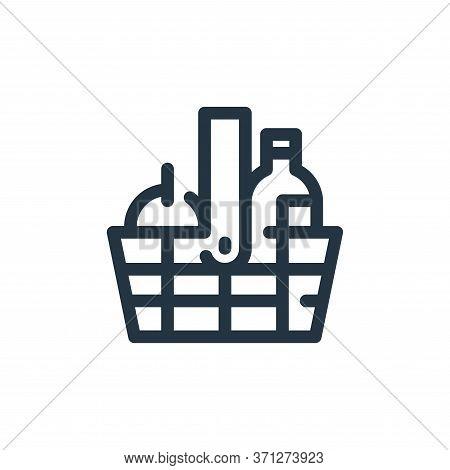 Picnic Basket Vector Icon. Picnic Basket Editable Stroke. Picnic Basket Linear Symbol For Use On Web