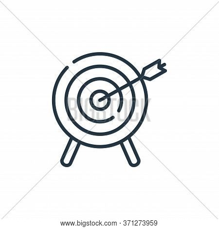 Dartboard Vector Icon. Dartboard Editable Stroke. Dartboard Linear Symbol For Use On Web And Mobile