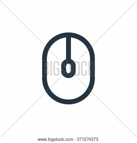 Mouse Vector Icon. Mouse Editable Stroke. Mouse Linear Symbol For Use On Web And Mobile Apps, Logo,
