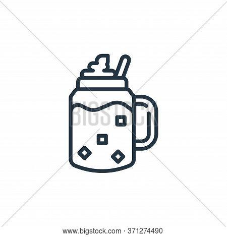 Milkshake Vector Icon. Milkshake Editable Stroke. Milkshake Linear Symbol For Use On Web And Mobile