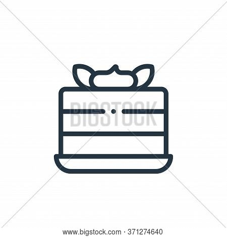 Piece Of Cake Vector Icon. Piece Of Cake Editable Stroke. Piece Of Cake Linear Symbol For Use On Web